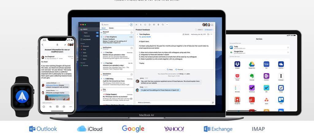 تطبيق Spark لإدارة البريد الإلكتروني